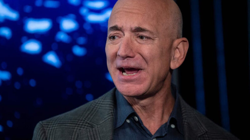 Rich result on SERP when searching for Amazon Owner, Jeff Bezoz, Steps Down As CEO